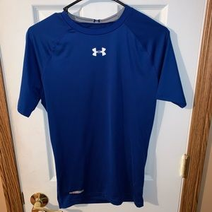 Under armor youth large blue t shirt